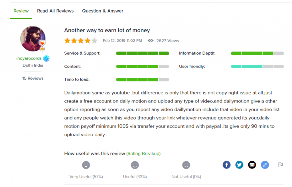 Dailymotion review