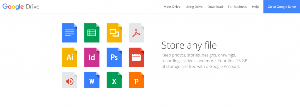 Google Drive is Best all-in-one free cloud hosting for Google accounts