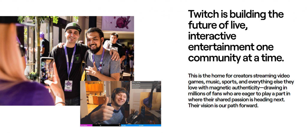 Twitch is Best free video hosting for live stream entertainment