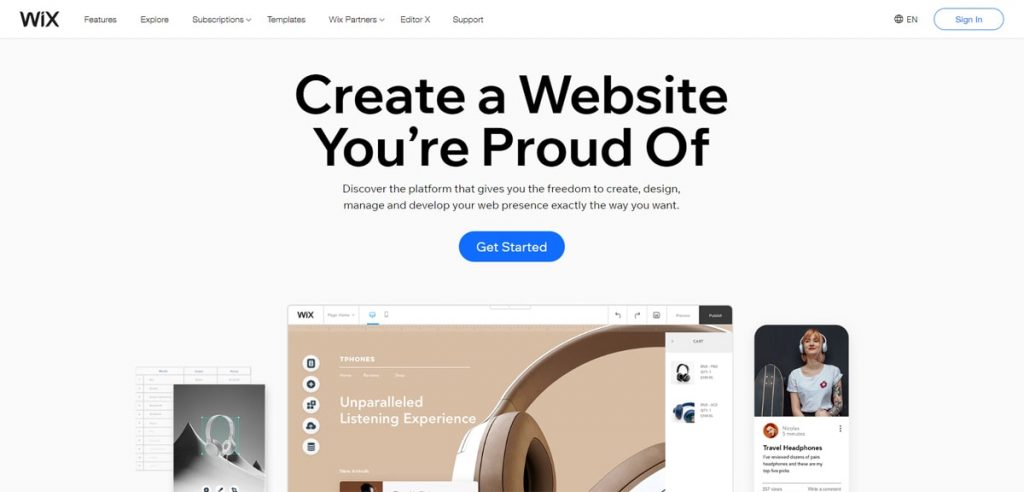 Go with Wix as the best Shopify alternative for the best value for money